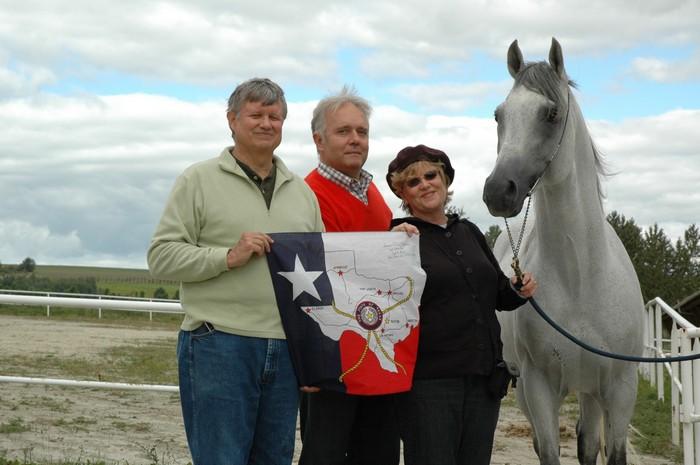 Rick Flammer, Longin Błachut, Susana Flammer oraz Ontario HF, fot. Czesław Witko