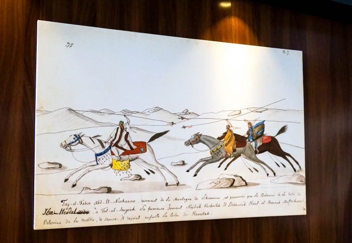Jeden z rysunków Wacława Emira Rzewuskiego, fot. Monika Luft