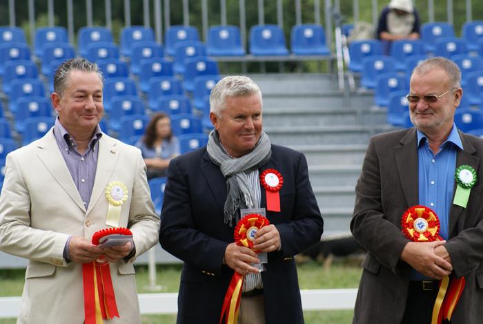 Sędziowie: Koenraad Detailleur, Jerzy Zbyszewski (George Z) i Manfred Neubacher. Fot. Krzysztof Dużyński
