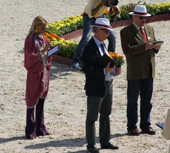 Sędziowie: Irina Stigler (Rosja), Francesco Santoro (Włochy), Marek Trela. Fot. Monika Luft