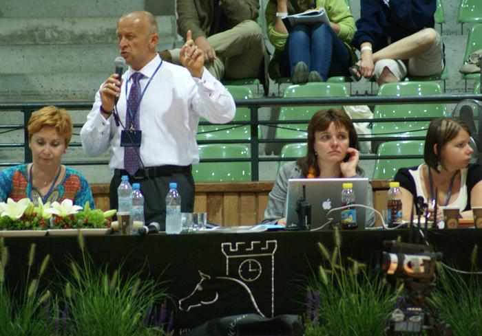 Scott Benjamin prowadzi licytację podczas Selection Sale, fot. Krzysztof Dużyński