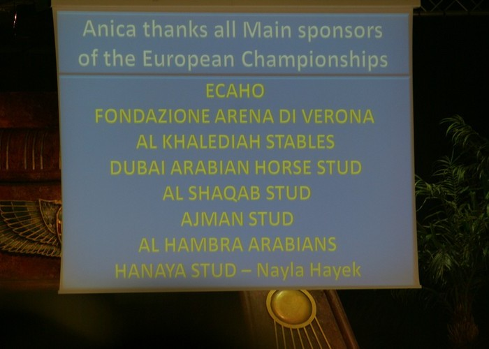 The sponsors' list. By Monika Luft
