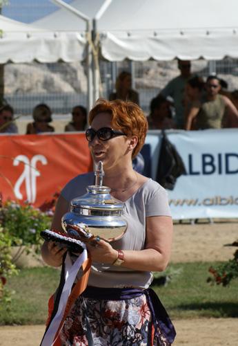 Anna Stojanowska with the award for Janów Podlaski State Stud, by Monika Luft