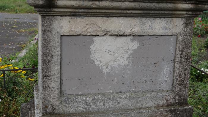The cementery in Jarczowce. The tombstone of the Dzieduszycki family. By Krzysztof Czarnota