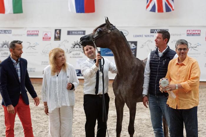 Wajeeh Athbah. Z lewej organizator pokazu Jaroslav Lacina. Fot. Krzysztof Dużyński