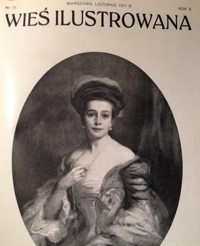 Wieś Ilustrowana (Country Illustrated), 1911. On the cover Helena Józefowa Potocka. From Mr. Marek Potocki's collection