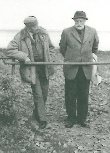 Professor Andrzej Strumiłło with Dir. Andrzej Krzyształowicz in Janów Podlaski (archive photo)