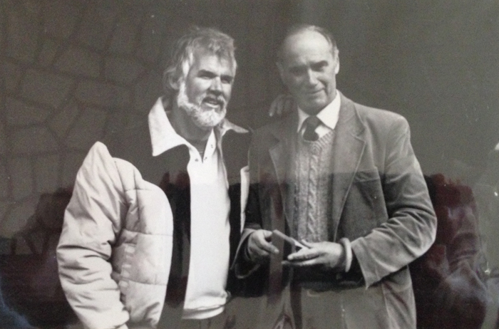 Director Ignacy Jaworowski with Kenny Rogers, 1984. Home archive photo
