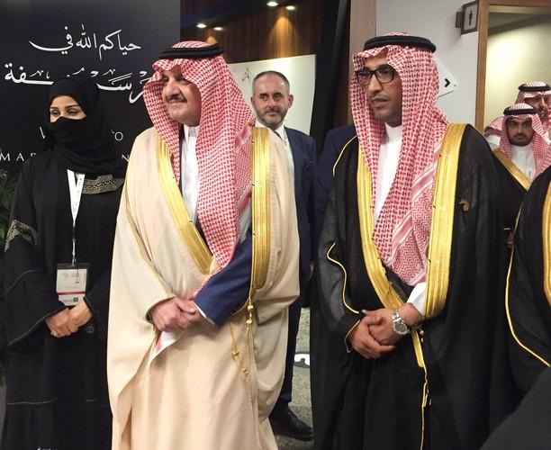 Książę Saud Bin Naif Bin Abdulaziz Al Saud, gubernator Prowincji Wschodniej - Arabia Saudyjska (w środku), fot. Monika Luft