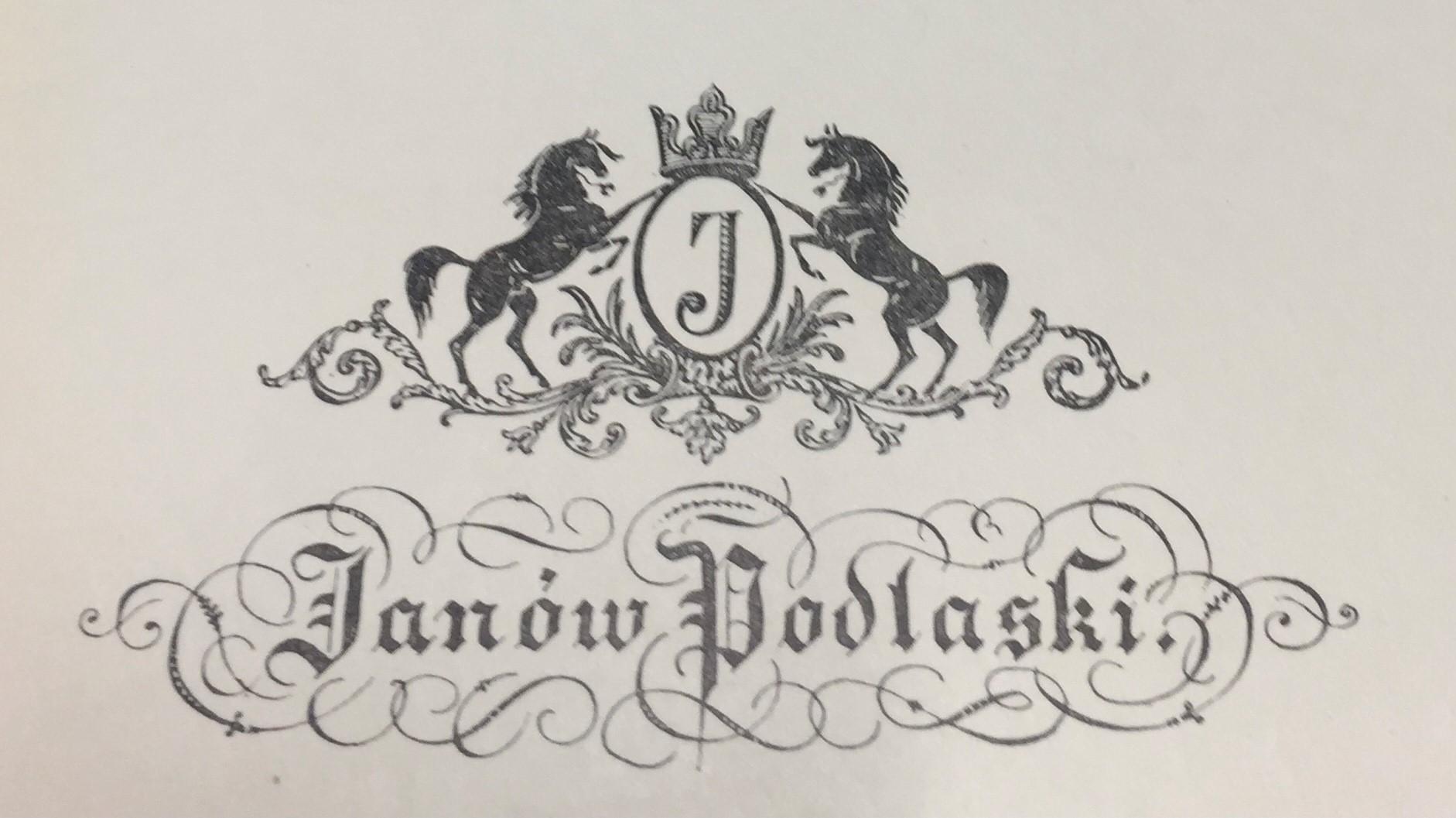 Logo Stadniny Koni Janów Podlaski zaprojektowane przez Andrzeja Grzybowskiego, źródło: Koń Polski 1 (73) r. 1984