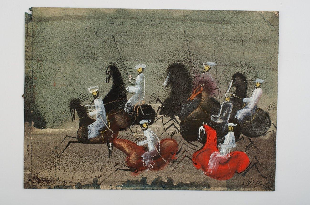 Jeźdźcy. Skarb Alibaby. Ilustracja Józefa Wilkonia (2014)