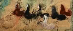 Herd of horses, by Józef Wilkoń (2010)