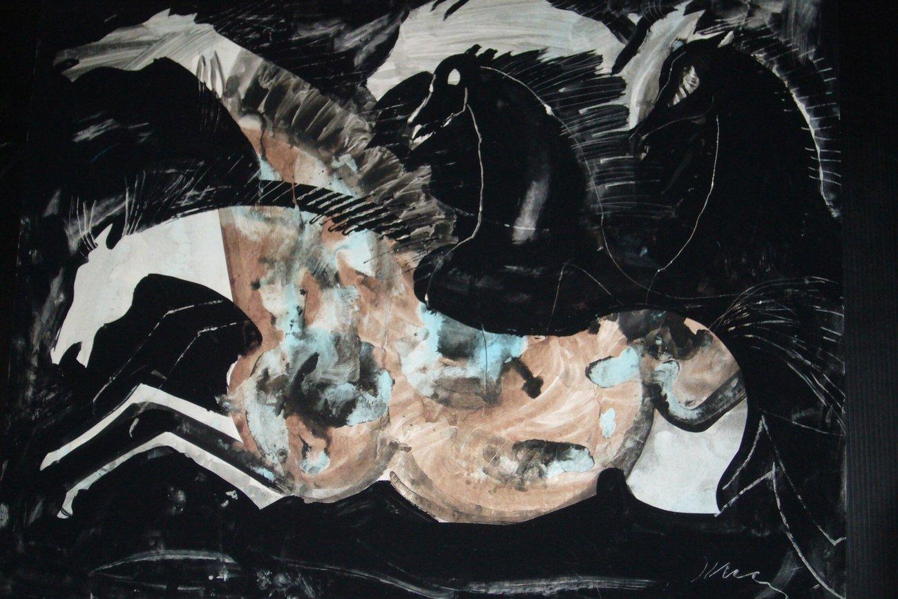 Konie, pędzla Józefa Wilkonia (2011)