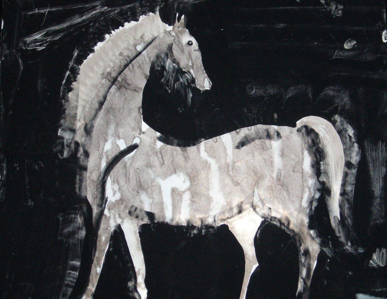 Biały Koń, pędzla Józefa Wilkonia (2010)