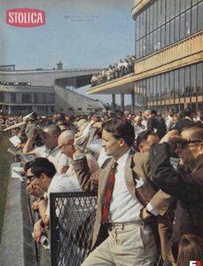 Publiczność Toru na Służewcu, dnia 08.10.1967 rozgrywana Wielka Warszawska fot. tygodnik Stolica nr 38 (1032)