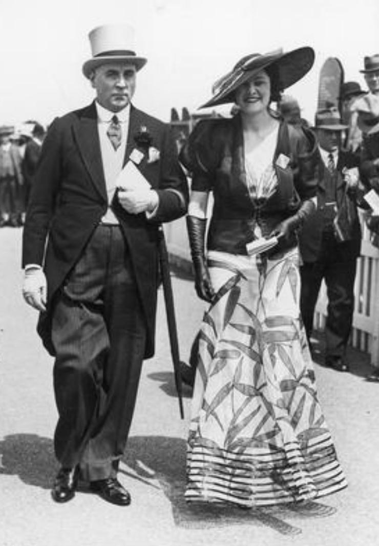 Wyścigi w Ascot, rok 1936, fot. Narodowe Archiwum Cyfrowe