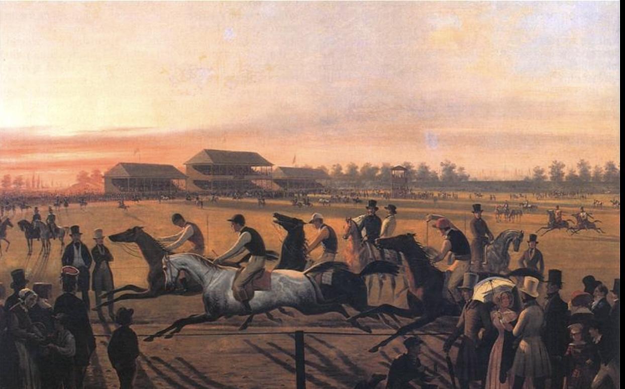 Pierwsze Wyścigi konne na Polu Mokotowskim w Warszawie, January Suchodolski 1849, Muzeum Warszawy