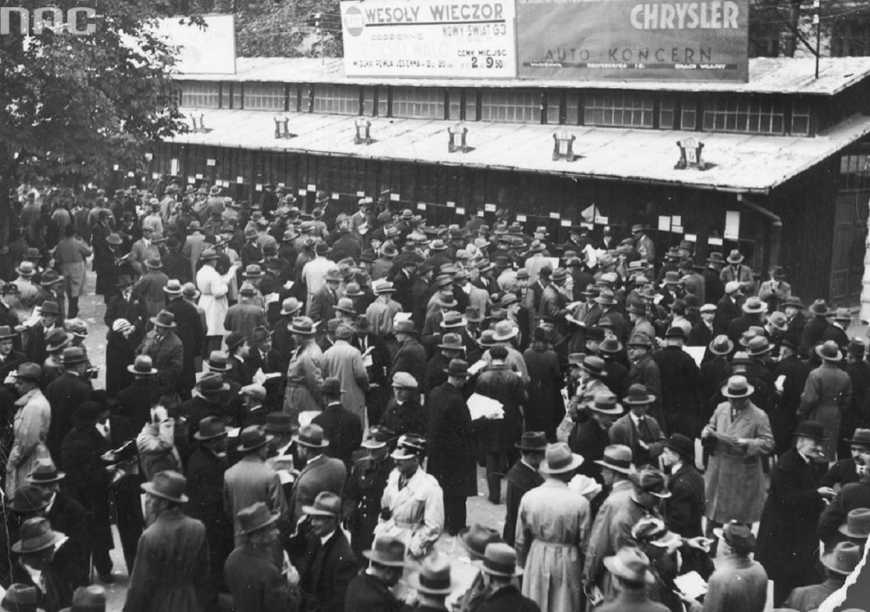 Derby Warszawy 1930, Tor wyścigów konnych na Polu Mokotowskim przy ulicy Polnej, fot. Narodowe Archiwum Cyfrowe