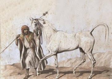 Szkic konia Koheilan, Juliusz Kossak, akwarela, 1845-1850, fot. archiwum