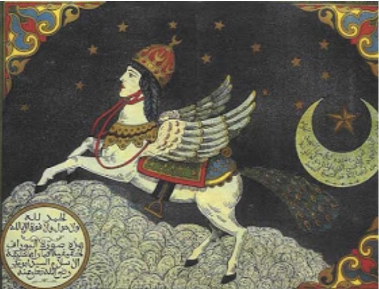 Burak - rumak Mahometa, na którym udał się w podróż do nieba, fot. Archiwum