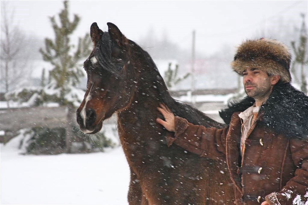 Krzysztof Czarnota z ogierem Murat-Nur, fot. archiwum autora