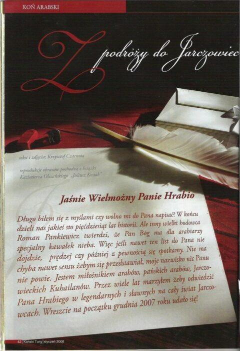 """Artykuł """"Z podróży do Jarczowiec"""" w formie Listu do Juliusza Dzieduszyckiego, fot. archiwum"""