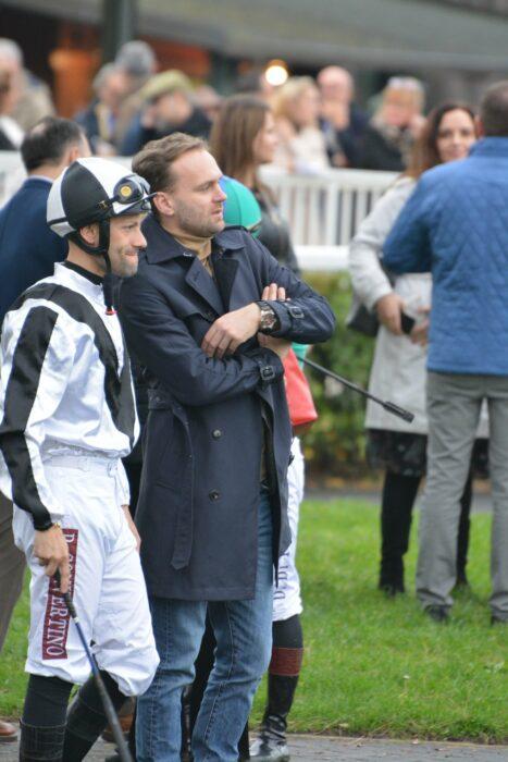 Pierrantonio Convertino and Maciej Kacprzyk doing strategy just before the race in Piza (Italy), by Agnieszka Kacprzyk