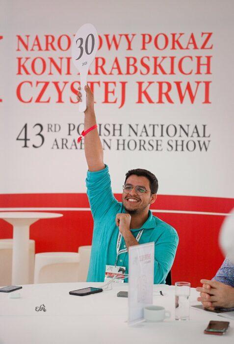 Abdullah Kamossy, licytujący Equatora dla stadniny Alrajhiat Stud, fot. Ewa Imielska-Hebda