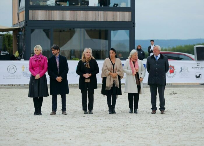 Sędziowie pokazu Prague Intercup: Claudia Darius, Christian Moschini, Karin Zeevenhoven, Marianne Tengstedt i Marek Trela, fot. Sylwia Iłenda