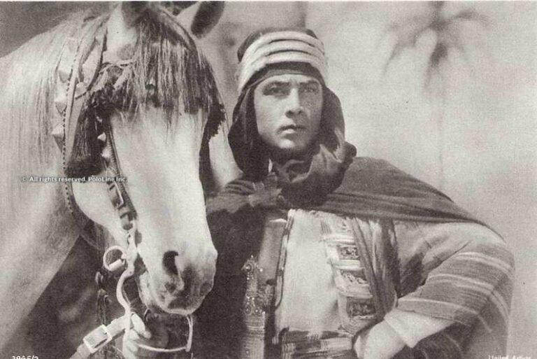 Rudolph Valentino z ogierem Jadaan, fot. polonline.com